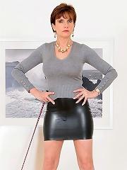 Spanking skirt mistress
